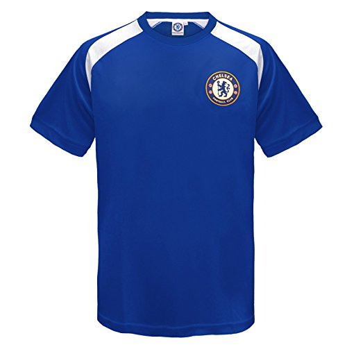 Chelsea F.C. Chelsea FC Official Gift Boys Poly Training Kit T-Shirt Blue 6-7 Years SB