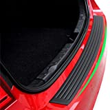 #5: PR Bumper Protector Guard Rear Bumper Protection Trunk Protectors Black Flexible Rubber Sill Cover Non Slip Adhesive Strips Fits Most Sedan Cars (36 inch) for Maruti Ciaz