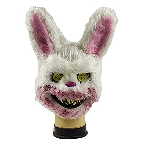 acccc -Halloween Mask Bloody Rabbit Mask Plush Cosplay Cute Animal Mask Scary Rabbit Mask Masquerade Carnival Prop Headwear Bear Mask Fancy Dress@BloodyRabbit (Womens Cute Fancy Dress Kostüm)