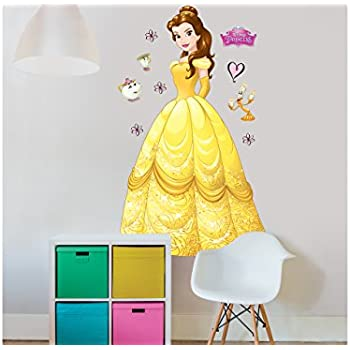 Walltastic Disney Princess Belle Large Character Wall Sticker Set,  Multi Colour Part 71