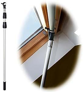 Winhux telescopic window pole rod designed to control for Velux skylight control rod