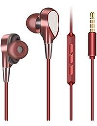 Auriculares in ear, Doriup cancelación de ruido auriculares, graves profundos para iPhone, iPad, iPod, Samsung Galaxy, reproductores MP3 , Nokia, HTC, Nexus, Blackberry.
