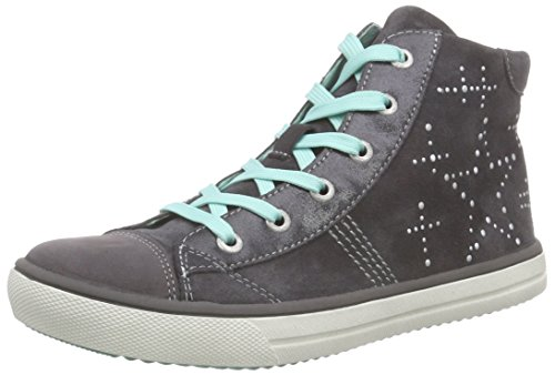 Lurchi Shelly Mädchen Hohe Sneakers Grau (charcoal 45)