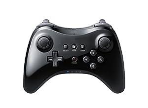 PYRUS Contrôleur sans fil Gamepad pour Nintendo Wii U Contrôleur de jeu Bluetooth Joystick Gamepad (Noir)