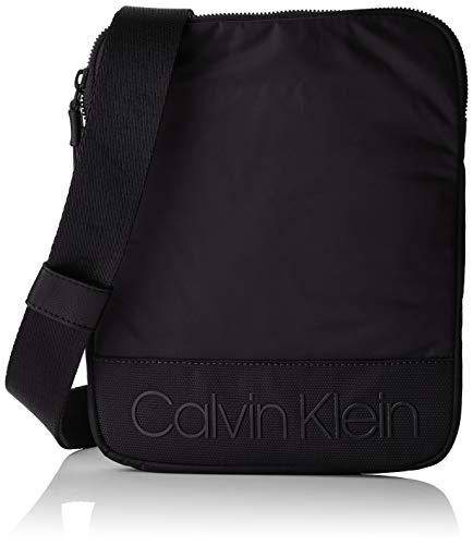 Calvin Klein Herren Shadow Flat Crossover Schultertasche, Schwarz (Black), 2x26x21 cm