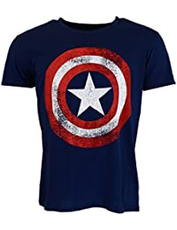 Marvel Comics Captain America Distressed T-shirt Official Licensed Movie