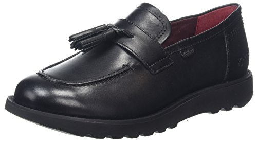 Kickers Damen Kick C Lite Loafer Lthr AF Slipper, Schwarz (Black/Black), 42 EU (Signature Schuhe Loafer)