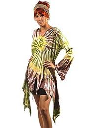 Pullover Batik Kapuzenpullover Oberteil Mantel Jacke Hoodie Hippie Goa Psy Kapuze Kleid Longshirt