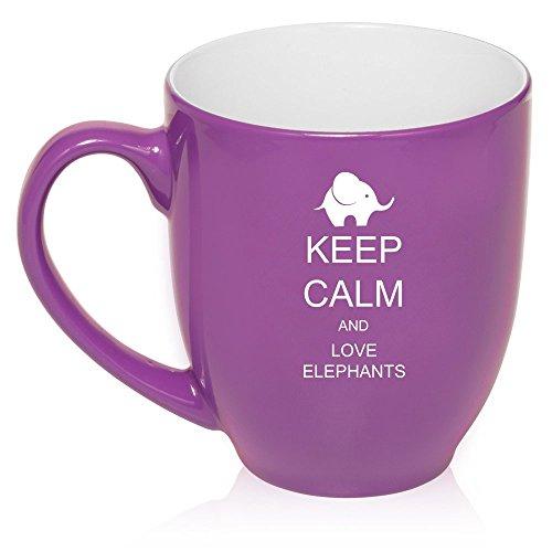 16 oz de color púrpura grande taza Bistro de la taza de café de cerámica vaso de té iposters elefantes amor