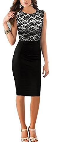 SunIfSnow - Robe spécial grossesse - Moulante - Uni - Sans Manche - Femme - noir - X-Large