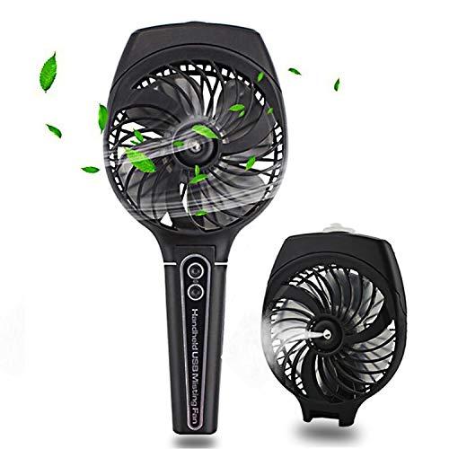 wivarra Mini ventilatore tascabile umidificatore,Ventola di raffreddamento con USB Batteria ricaricabile Misty raffreddamento Idratante Ventilatore per Viaggiare calda estate all\'aperto (nero)