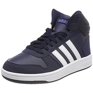 adidas Unisex-Kinder Hoops MID 2.0 Fitnessschuhe, Blau (Maruni/Ftwbla/Azretr 000), 37 1/3 EU