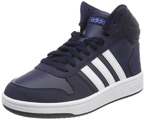 adidas Unisex-Kinder Hoops MID 2.0 Fitnessschuhe, Blau (Maruni/Ftwbla / Azretr 000), 37 1/3 EU