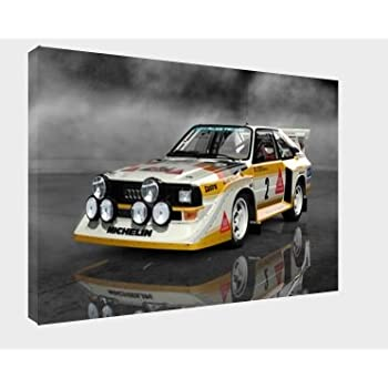 Framed Picture Group B Rally Art 30x20 Inch Canvas Audi S1 Quattro