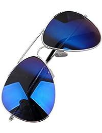 Moolecole réfléchissants Sunglasses Colorful Homme Femme Shades Aviator Lunettes de soleil UV400