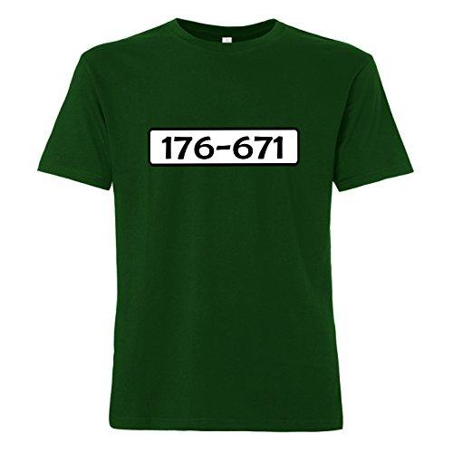 gsnummer - T-Shirt Grün 2XL (Psycho Kostüm-ideen)