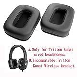 Coussinet d'oreille de remplacement Coussinets Coussin de cuir réparation de pièces pour Mad Catz Tritton Kunai Casque Stereo...