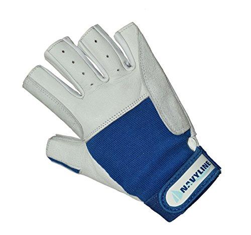 Navyline Segelhandschuhe Super Soft - 5 Finger geschnitten, Größe:L