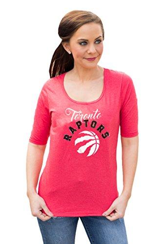 Gameday Couture NBA Frauen 'S Half Sleeve Tee Shirt mit Logo, Damen, ABTHLC, grau, Medium - Bling Logo Tee
