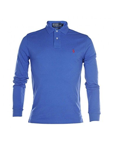 ralph-lauren-polo-long-sleeve-shirt-top-mens-custom-fit-solid-mesh-white-black-navy-red-grey-blue-m