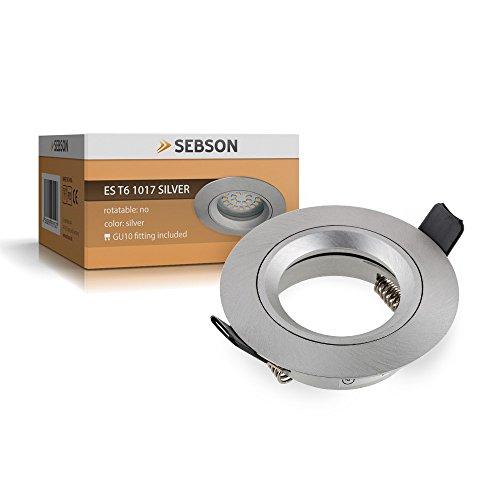 SEBSON Einbauleuchte silber / Einbaustrahler (LED / Halogen)