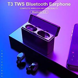 Williamly Bluetooth 5.0 Drahtlose Ohrhörer Binauraler Anruf Kopfhörer Notladung Mini IPX5 Wasserdichtes Sport-Headset…