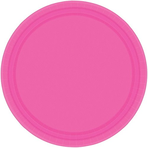 amscan-international-228-cm-paper-plates-bright-pink-pack-of-20