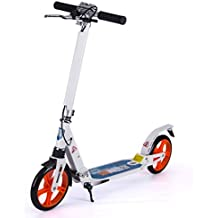 Patinetes Scooters para Adultos pequeños con Freno de Mano, Regalos de cumpleaños para niños,