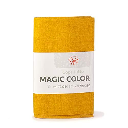 Desideri di casa magic telo copritutto, 60% cotone 40% poliestere, oro, 250 x 280,
