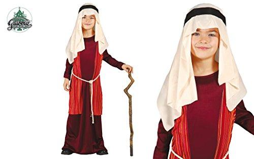 Josef Kostüm Krippenspiel für Kinder rot-beige von Größe 92 bis 146 - komplettes Josef Kostüm für Kinder Jungen (140/146)