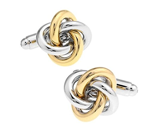 Ss Knot Silver & Gold Copper Cufflinks For Men SS64  available at amazon for Rs.699