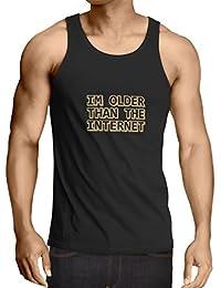 Camisetas de Tirantes para Hombre Soy más Viejo del Internet Idea Divertida del Regalo de cumpleaños