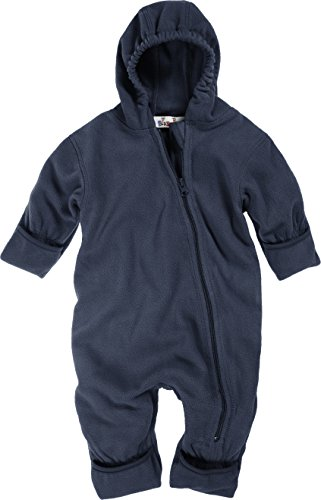Playshoes Unisex-Baby Fleece Overall, Blau (11 Marine), 80 -