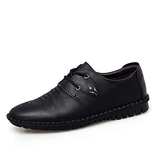 Apragaz Herrenmode Oxfords Lässig Bequem Einfache Schuhe Reine Farbe Schnürschuhe Britischen Stil Formelle Schuhe (Color : Schwarz, Größe : 40 EU) - Damen Klassiker Canvas Slip