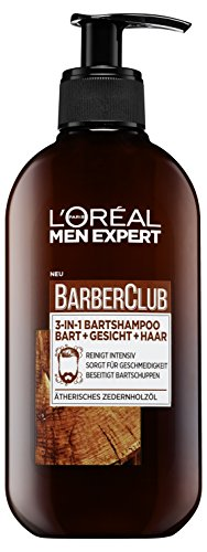 L'Oréal Men Expert Barber Club 3-in-1 Bartshampoo Bart, Gesicht und Haar, 200 ml