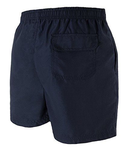 HEMOON Herren Badeshorts Bermudashorts Feitzeithose Trendige Farbe Dunkel Blau