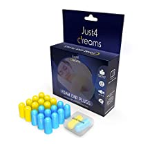 Noise Cancelling Ear Plugs by Just4Dreams – 11-Pair Pack Foam Ear Plugs for Sleeping – Noise Reduction & Hearing Protection – Comfortable & User-Friendly – Ideal for Sleep, Study, Work, Travel