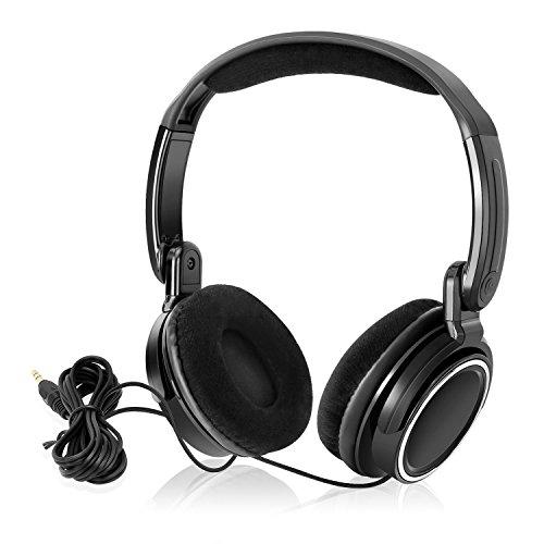 Dvd-player Audio-box Für Auto (NAVISKAUTO faltbare Kopfhörer Bügelkopfhörer Stereo Audio System 1,5m Kabel 3,5 mm Klinkestecker für Tragbarer DVD Player Kopfstütze Monitor PC Mp3 Tablet HP001B)