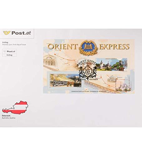 Goldhahn Österreich Block 60 FDC Ersttagsbrief Eisenbahn Orient-Express Briefmarken für Sammler -