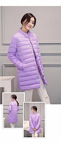 CRAVOG Mädchen Daunenjacke,Winter Parka Einreiher Wadded Jacke Oberbekleidung Lavendel