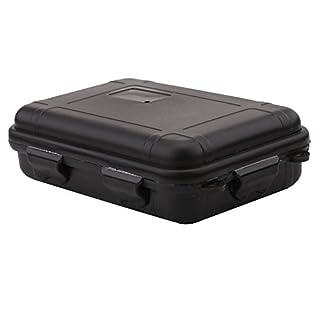 Outdoor Aufbewahrungsbox Shockproof Wasserdichte Storage Box Plastik Box für Outdoor / Camping / Bootsport / Survival ( Farbe : Schwarz , Abmessung : L )