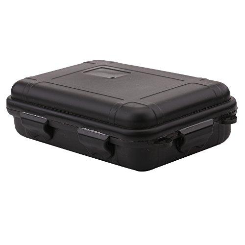 Outdoor Aufbewahrungsbox Shockproof Wasserdichte Storage Box Plastik Box für Outdoor / Camping / Bootsport / Survival ( Farbe : Schwarz , Abmessung : S )