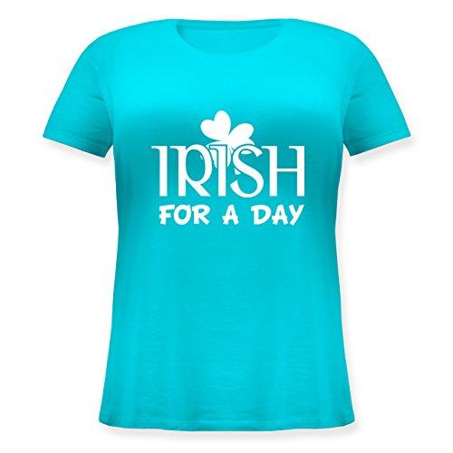 St. Patricks Day - Irish For A Day St Patricks Day - Lockeres Damen-Shirt in Großen Größen mit Rundhalsausschnitt Türkis