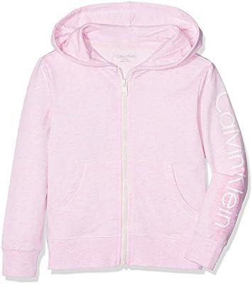 Calvin Klein Modern Cotton Zip Hoodie, Capucha para Niñas