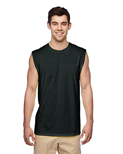 Ärmelloses Shooter T-Shirt Erwachsenen. 29SR Schwarz