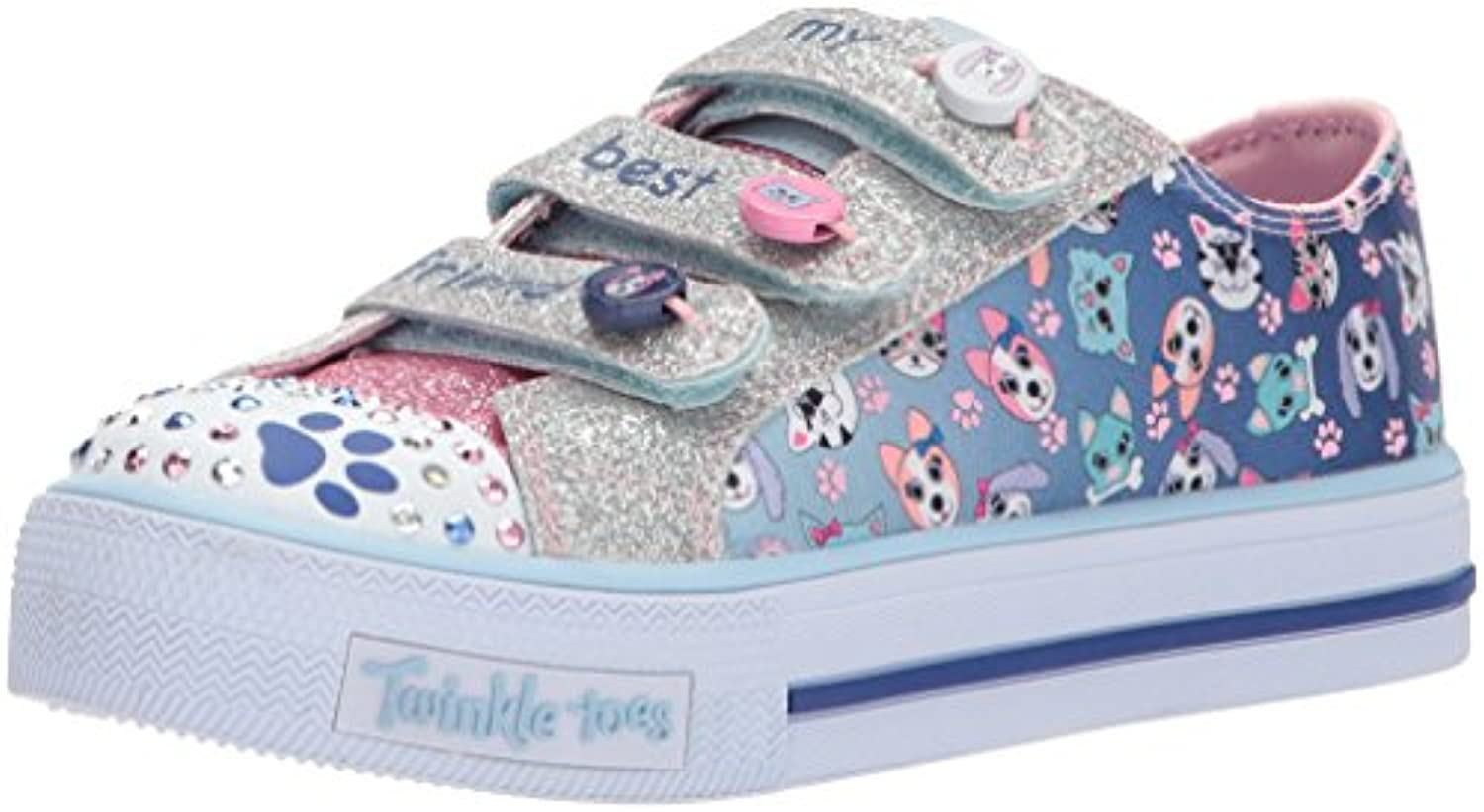 Skechers Shuffles-Paw Baskets Party, Baskets Shuffles-Paw Fille cefed7