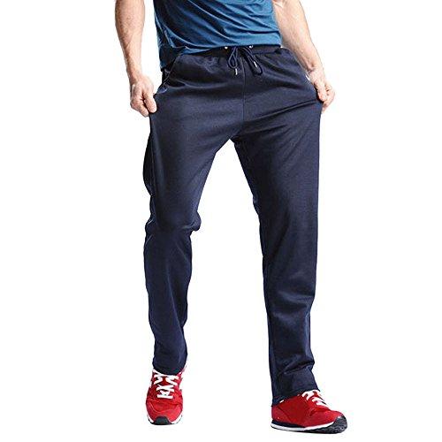 Trainingshose Jogging Herren, Sunday Männer Sport Hosen Hosen Hip Hop Kordelzug Jogger Jogginghose Jogger Pants Solide Hosen 2018 (Dunkelblau, 2XL) (Basic Knit Pants)