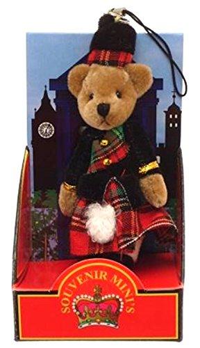 Ours en peluche téléphone mobile Charme Sac Charme Souvenir Kilt Tartan écossais