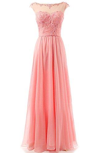 Faironly M1606 Damen Maxi Abend-Abschlussball-formale Brautjungfernkleider (Large, Rosa)