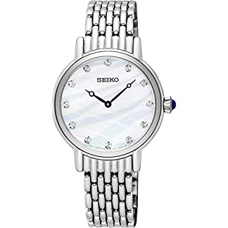 Seiko Analog Mother of Pearl Dial Women's Watch – SFQ807P1